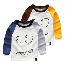 Grimaces baby basic shirt 2016 kids clothes spring autumn baby boys clothing girls clothing cartoon child t-shirt