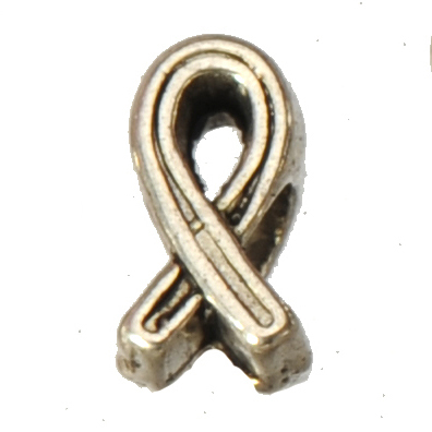 ribbon charms european beads necklace diy bracelets large hole vintage silver breast cancer symbol jewelry findings 11*6mm 60pcs(China (Mainland))