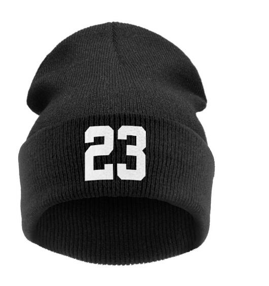 "men winter Beanie hats ""23"" JORDAN BULLS SPORTS Men / Women Basketball Skull Beanie Hat Hiphop Skullies warm knitted hats(China (Mainland))"