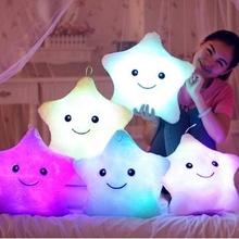 Oreiller lumineux jouets de noël, Led oreiller lumière, En peluche oreiller, Hot Colorful étoiles, Enfants jouets, Livraison gratuite, Cadeau d'anniversaire(China (Mainland))