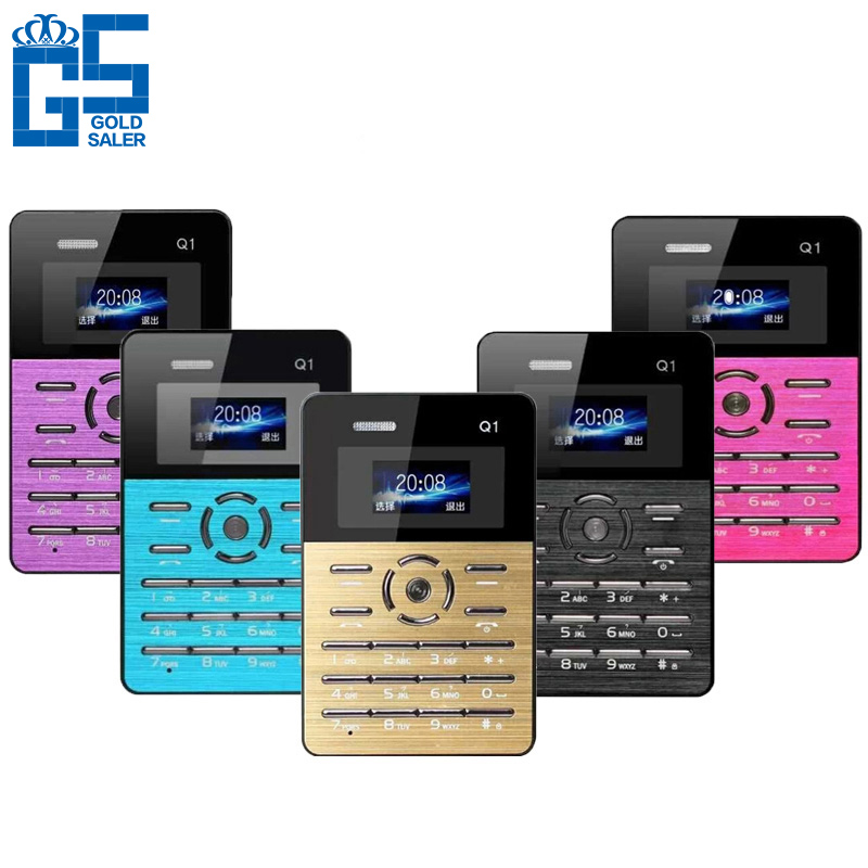 Original Qmart Q1 Quad Band Ultra-thin Pocket Mini Credit Card Children Student Mobile Cell Phone MP3 AIEK MOOC Inew(China (Mainland))