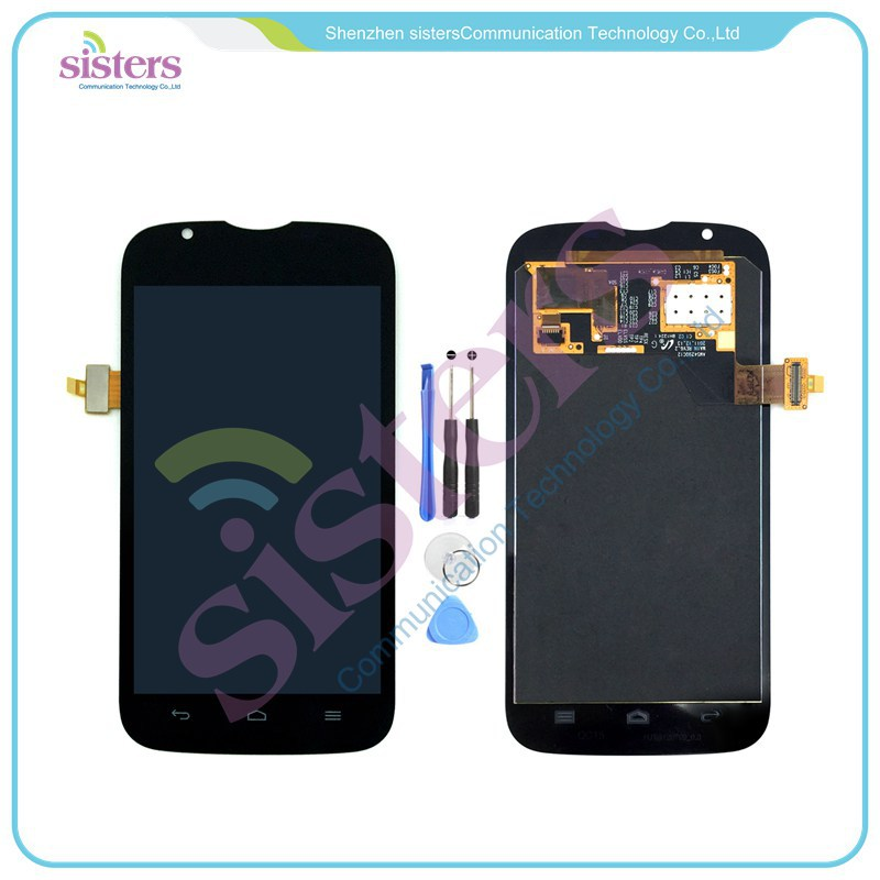 HAW0048 Black LCD Display With Touch Screen Digitizer Front Glass Assembly For Huawei U9202 P1 LTE 4G (1)