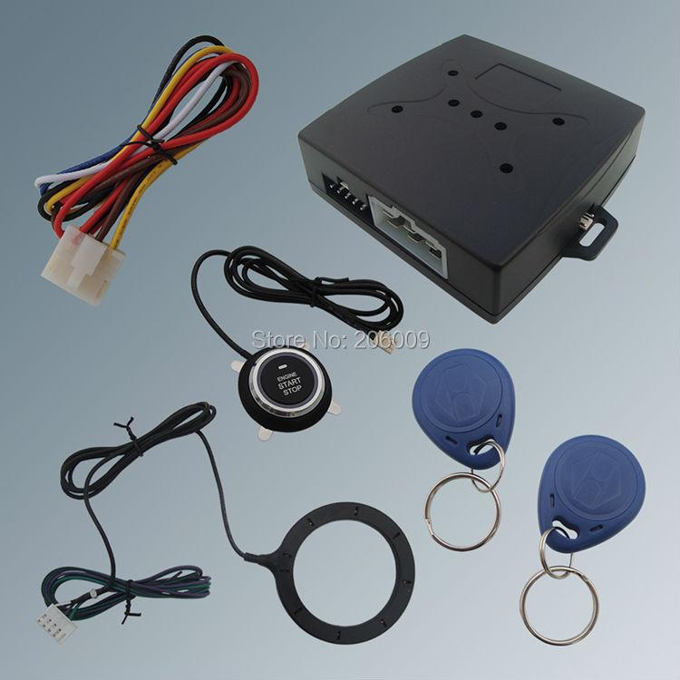Stock USA! Hot Selling RFID Car Alarm System Finger Engine Start Stop Button Transponder Immobilizer!!