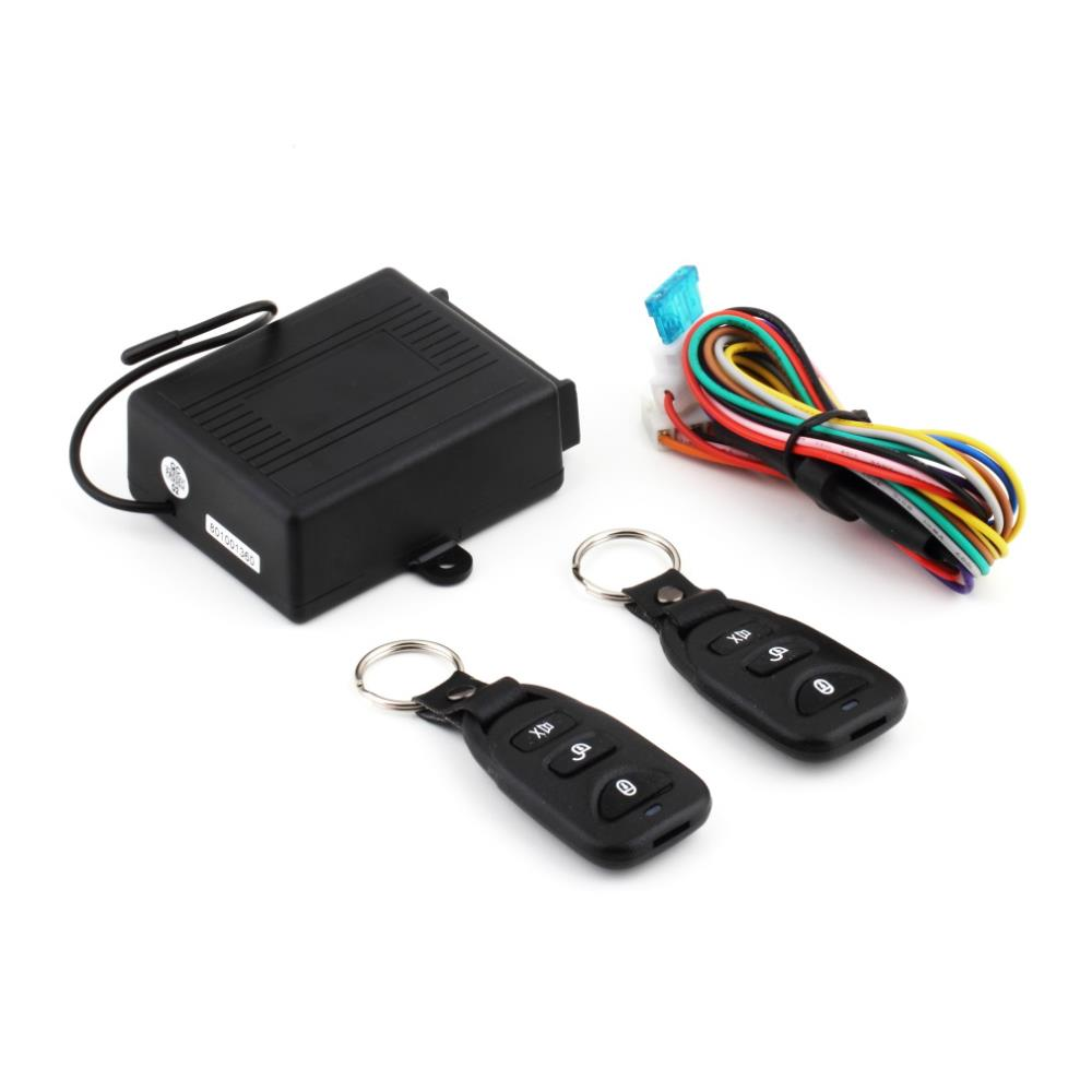 New Arrival Universal Car Auto Remote Control Central Door Lock Locking Keyless Entry System Kit + Remote Controllers(China (Mainland))