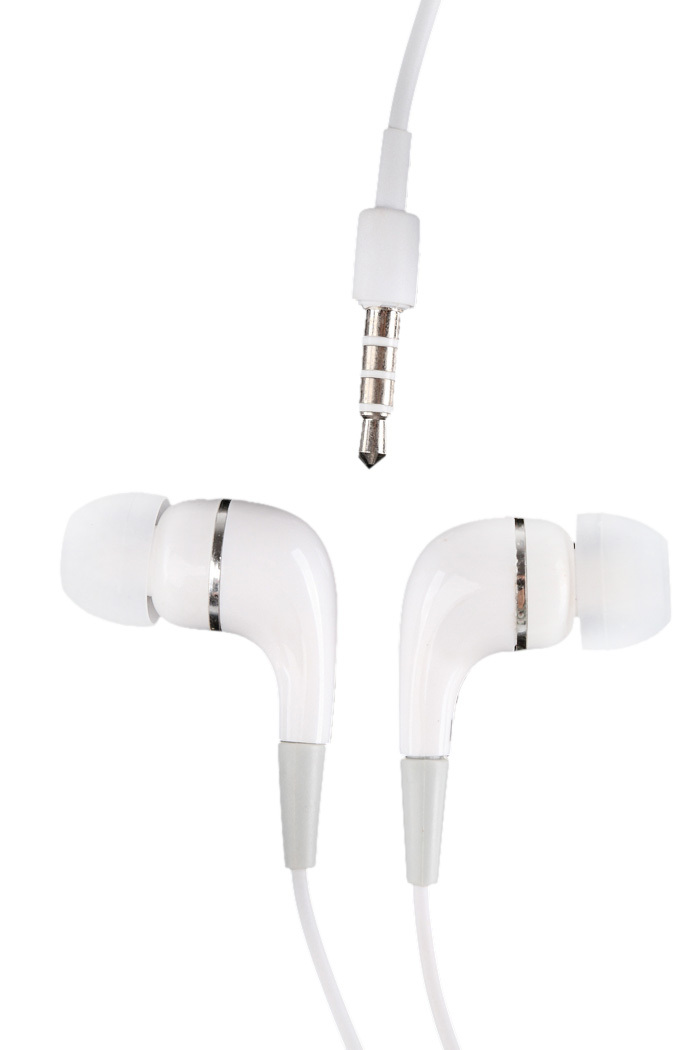 2015 White Headset Earphone Eearbud For Mobile Phone MP3 MP4 3.5mm Jack(China (Mainland))