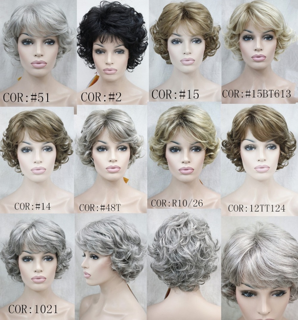 Women s short Curly wigs High quality Synthetic hair wig Free shipping<br><br>Aliexpress