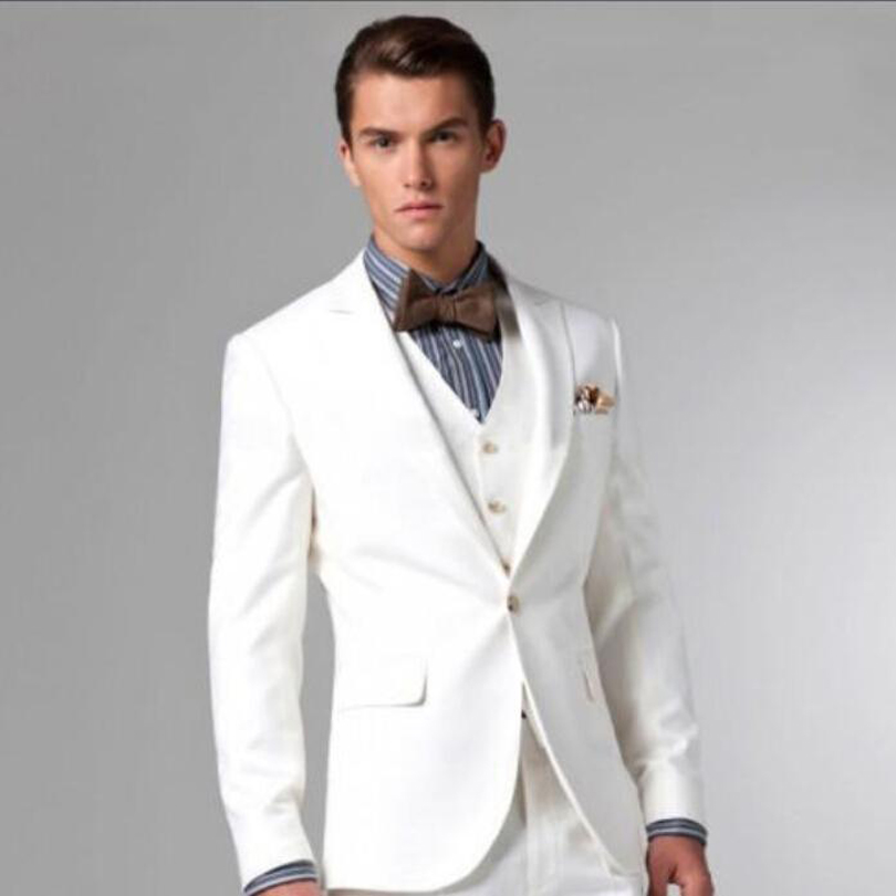 Grey And White Prom Suit Dress Yy