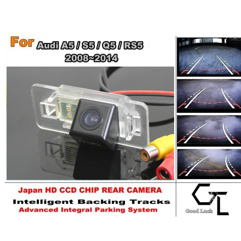 For Audi A5 S5 Q5 RS5 2008 ~ 2014 Smart Backing Tracks Camera HD CCD Night Vision Rear View Parking Reverse Camera(China (Mainland))