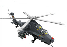 Compatible Legoe SlubanW-Z10 Building Block Military Brick Arms Battle Fighter Helicopter Gunship Modern Warfare Children Toys