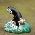 Anime Cartoon Miyazaki Hayao Spirited Away No Face Men Calendar Decor Resin Figure Toy Kid Gift