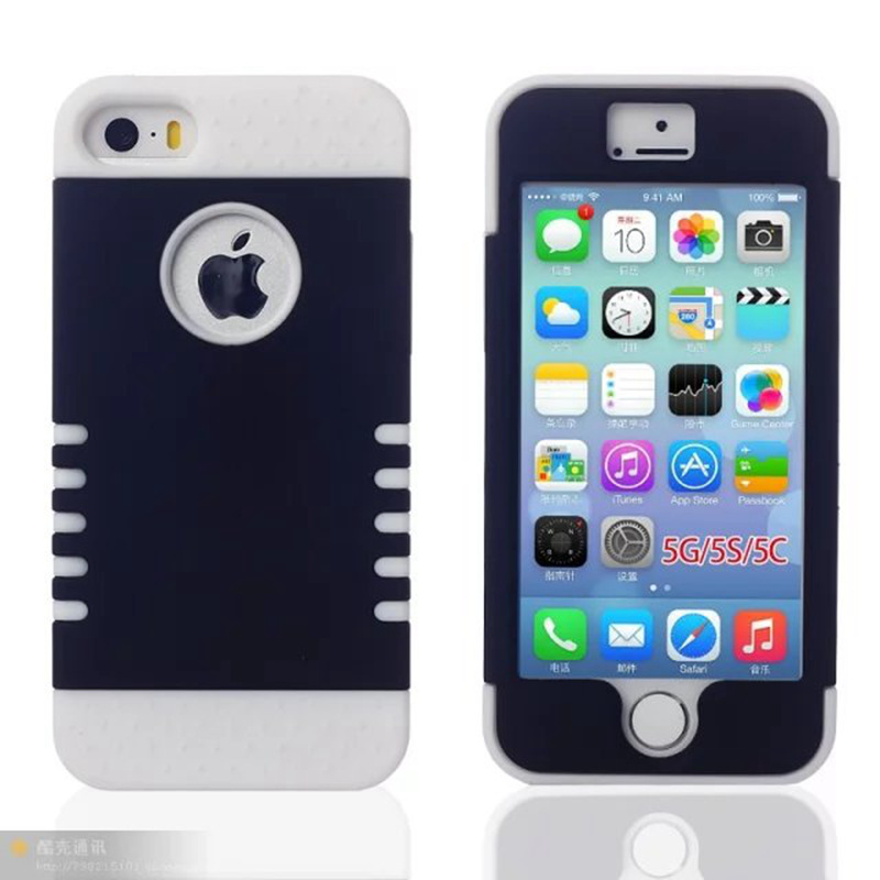 Shockproof 3 in 1 TPU Silicone Soft Back Cover Case for apple iphone 5 5S SE Phone Case Cover Shell Hybrid Rugged Case