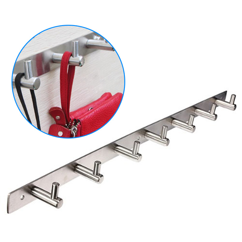 Stainless Steel Bathroom Hooks Coat Hat Clothes Robe Holder Rack Wall Hanger Mount Hook(China (Mainland))