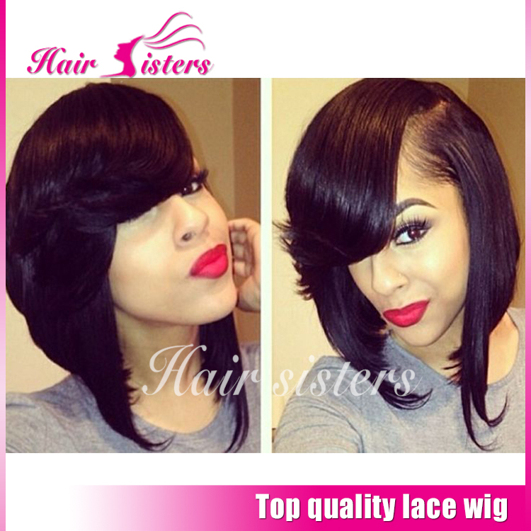Synthetic Wigs Heat Reisitant Short Bob Wigs With Bangs Braided Synthetic Hair Synthetic Lace Front Wigs/None Lace Wigs In Stock<br><br>Aliexpress
