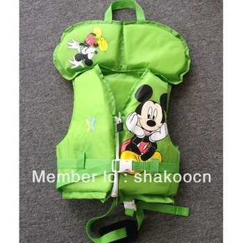 SK-11201C-GNS Children Life Jackets (10pcs/lot) with large discount)