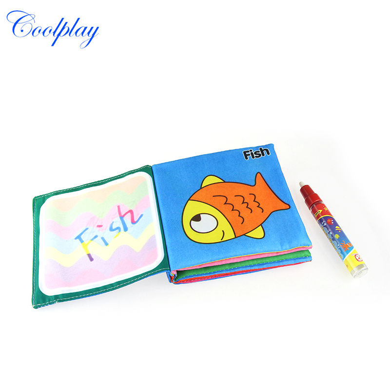Coolplay Cp1353 Water Drawing cloth book with 1 Magic Pen/Drawing book/ Aquadoodle Mat&/Water doodle mat(China (Mainland))