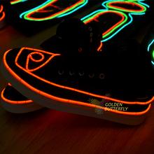 EL Luminous Shoes 2015 Fashion Glowing  Novelty Night Club DJ EL Light Show LED Shoes Dance prop Accessories Free Shipping(China (Mainland))