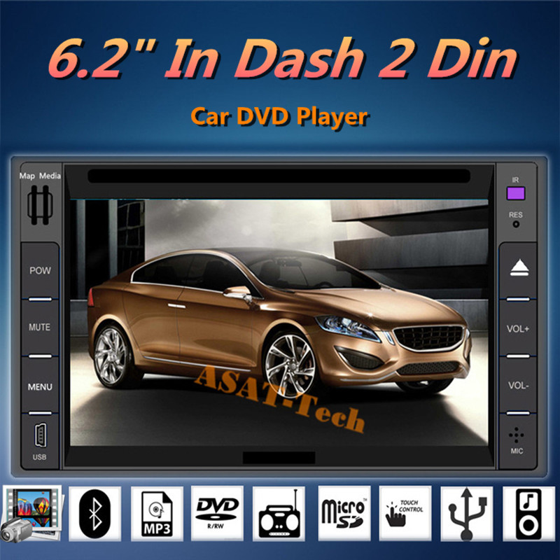 6 2 Touch Screen Universal Car Stereo Video 2 din Windows CE 6 0 car DVD