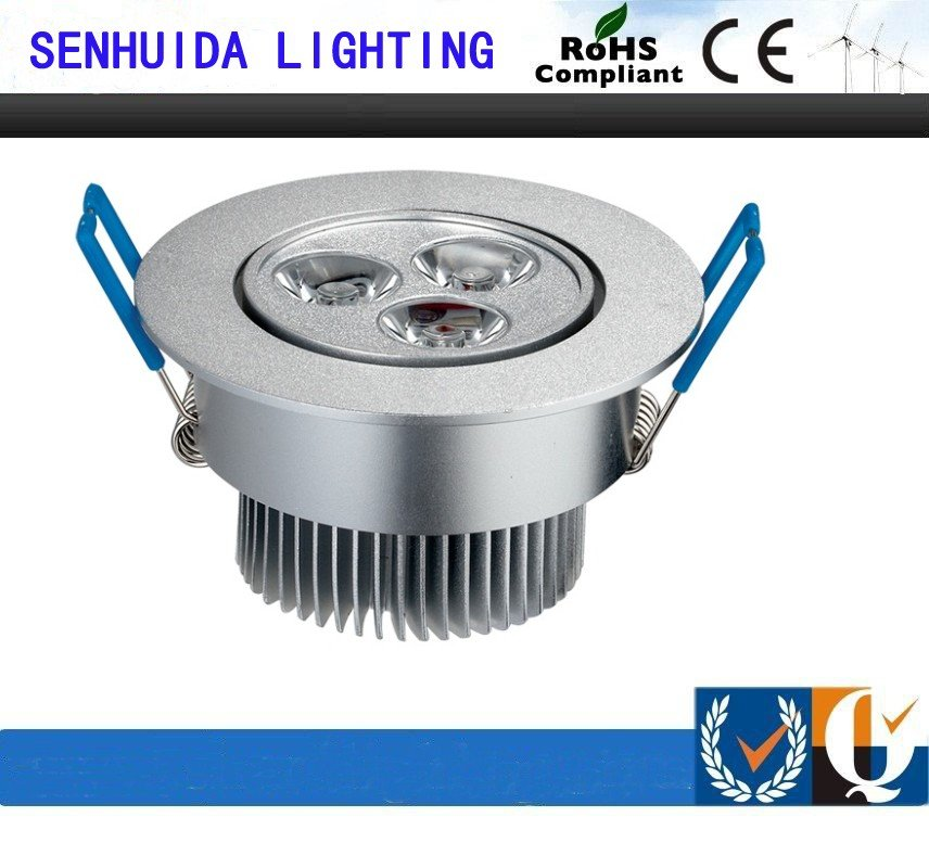 Free shipping wholesale newest style 9W dimmable downlighting auto led(China (Mainland))