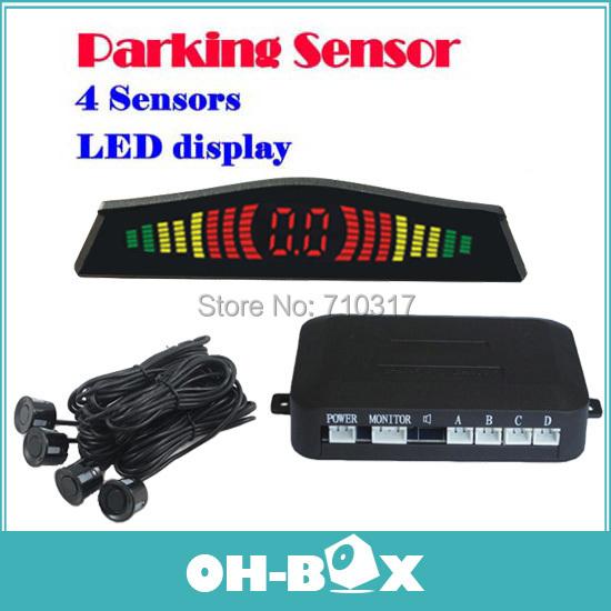 2014 Car LED Parking Sensor Radar PZ304 Backup Reverse 4 Sensors Parktronic - ShenZhen Oh-Box Information Technology Co., Ltd. store