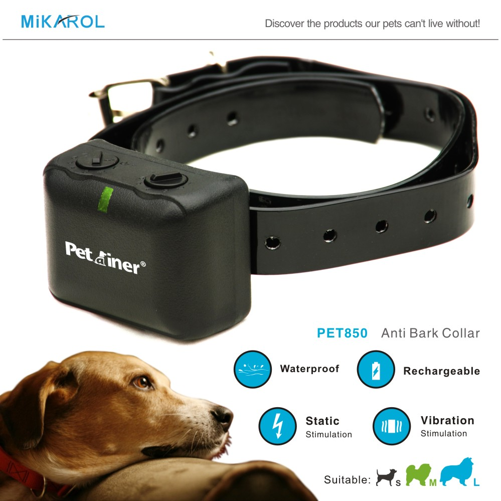 Lowest Price Dog Training Collar Anti Bark with Rechargeable, Waterproof No Bark Stop Collar for Electric Dog Collar Shock(China (Mainland))