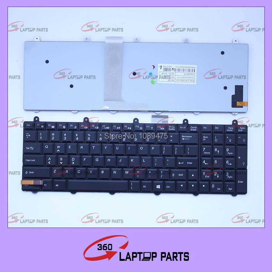 x511 laptop keyboard for CLEVO/DNS X511 P150 X611 X711 X811 HASE K680S US BLACK WITH BACKLIT KEYBOARD(China (Mainland))