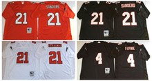 100% Stitiched,Atlanta,Deion Sanders,brett favre,Vick,Throwback for men,camouflage(China (Mainland))