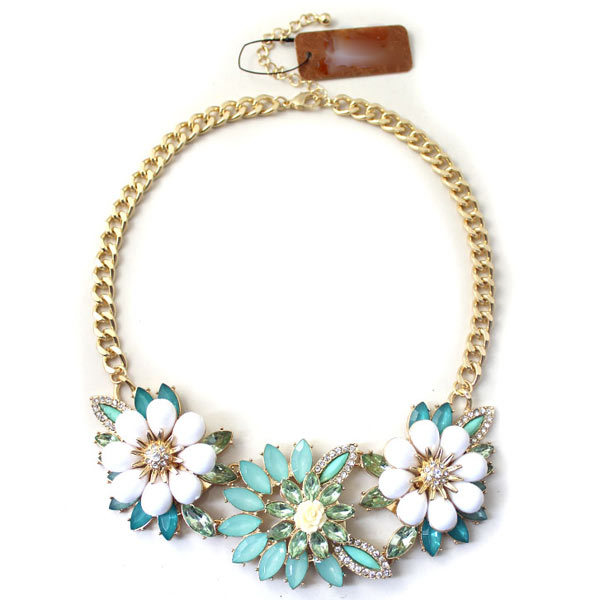 Europe Flowers Chokers Necklaces Fresh Girls Accessories Charming Statement Joyas Perfume Women Colar cc Neckalce Bijoux Femme(China (Mainland))