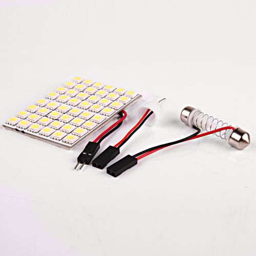 T10 Car Interior Pure White 48 5050 SMD LED Light LampDome Panel