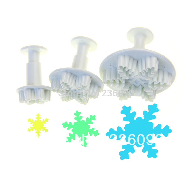 NEW SNOWFLAKE PLUNGER CUTTER CAKE TOOLS 2028#(China (Mainland))