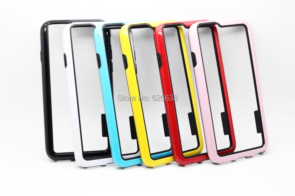 Hight quality two-color Bumper design cover PC+TPU case for iphone 6G 4.7'' case,Free shipping(China (Mainland))