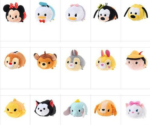 1PCS Tsum Tsum Plush toy Mickey doll Duck toys Cute elf doll Screen Cleaner tsum tsum mini toy juguetes Free Shipping(China (Mainland))