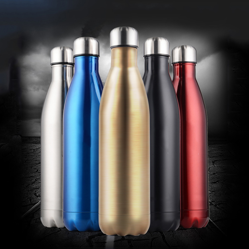 Stainless Steel Water Bottle Vacuum Insulated Sports Water Bottle for Milk Coffee12oz/17oz/25oz Fitness Water Bottle for Running(China (Mainland))