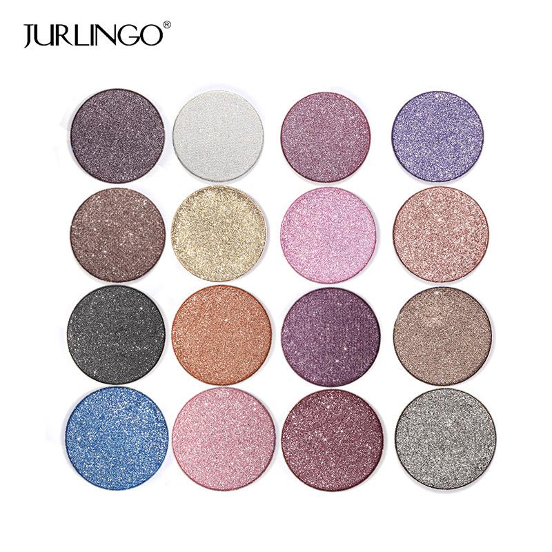 JURLINGO 16 Color Diamond Eye Shadow Palette Make Up Professional Shimmer Single Eyeshadow Pigment Nude Shadow Makeup Cosmetics(China (Mainland))