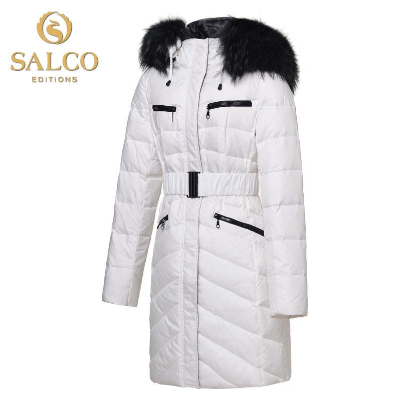 SALCO Free shipping new European and American fashion big raccoon Miss Mao Ling long sections of high-end down jacketÎäåæäà è àêñåññóàðû<br><br>