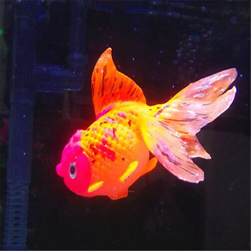 1PCS Light in the darkness of the artificial TankJelly fish aquarium pet goldfish ornament adornment(China (Mainland))