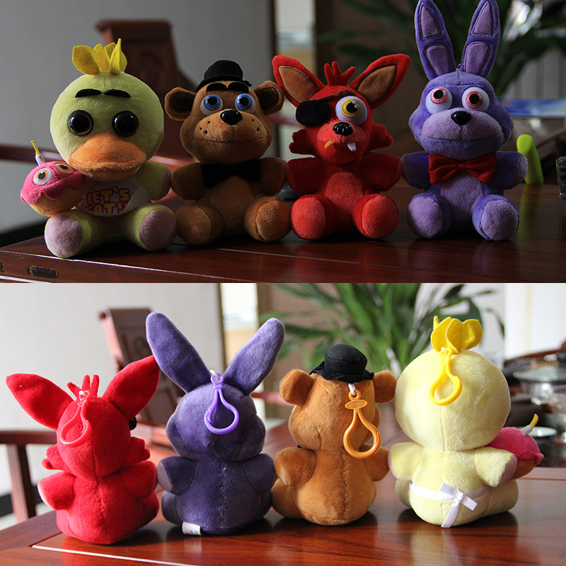 25CM/15CM Plush Fnaf Five Nihghts At Freddy's Bear&Fox&Rabbit&Duck Stuffed&Animals Education toys for kids baby doll(China (Mainland))