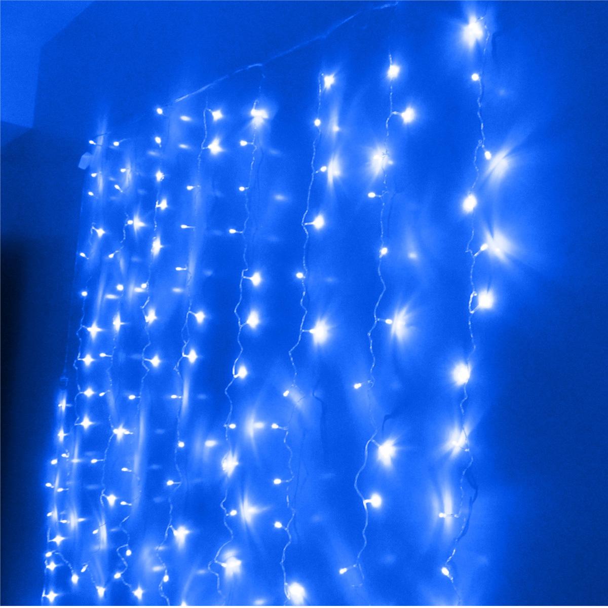 Christmas Curtain Lights Flash Led