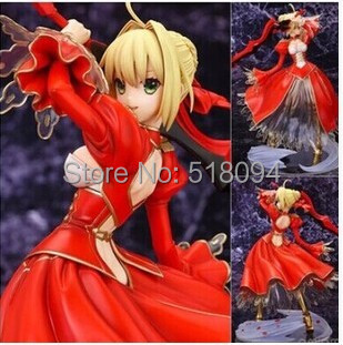 Anime Fate Stay Night Fate/EXTRA Saber PVC Action Figure Collectible Model Toy 9