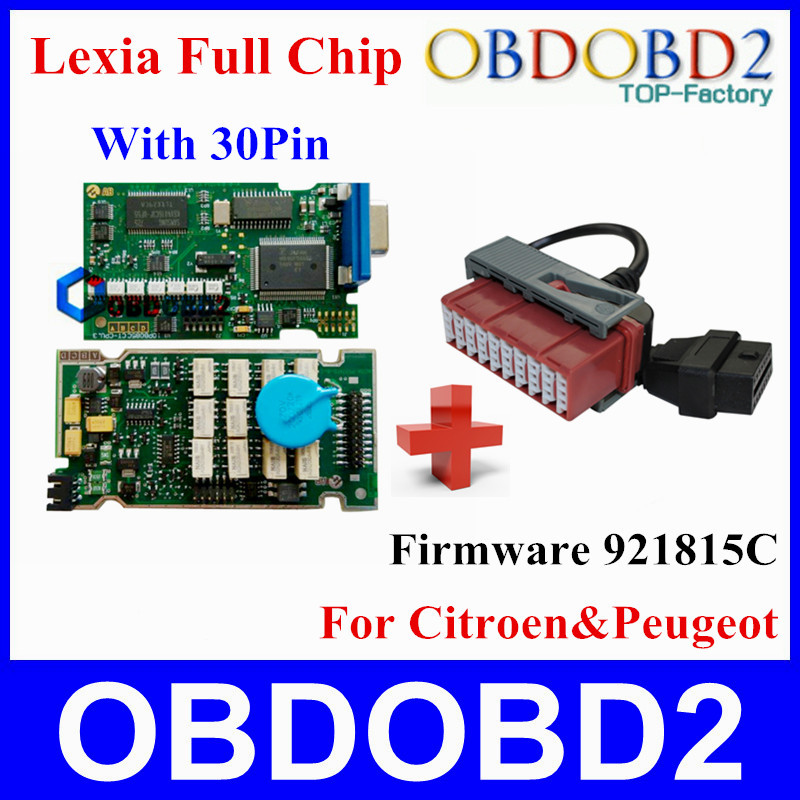 Lexia Full Chips with 30Pin Cables Full Function Lexia3 V48 Diagbox V 7.65 PP2000 V25 Firmware 921815C For Citroen & Peugeot(China (Mainland))