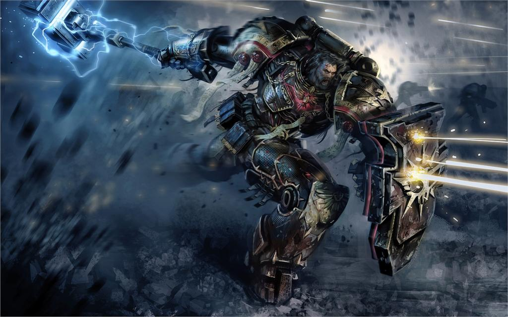 space marines Warhammer 40,000 game 4 Sizes Silk Fabric Canvas Poster Print(China (Mainland))