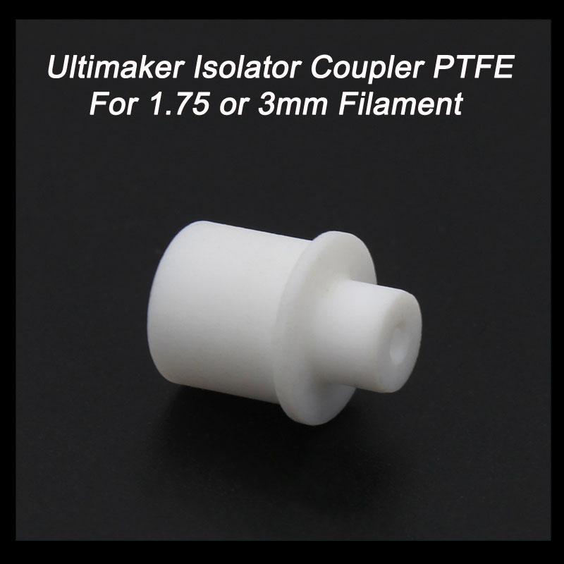1Pcs Ultimaker Hot End Isolator Coupler PTFE Teflon Inner Sleeve For 1.75mm 3mm Filament High Quality For 3D Printer Parts(China (Mainland))