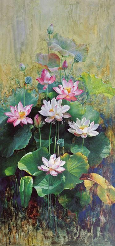 DIY full square Diamond Painting Lotus picture 30*64(China (Mainland))