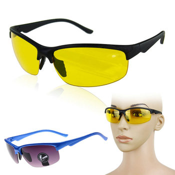 Cool Trendy HD Night Vision Glasses High Definition Driving Yellow Lens Glasses