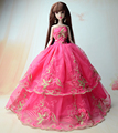 NK One Pcs 2016 Princess Wedding ceremony Costume Noble Celebration Robe For Barbie Doll Style Design Outfit Greatest Reward For Woman' Doll 011F