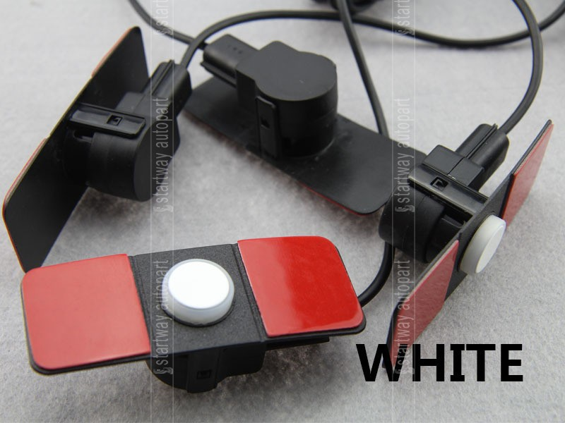 Car LED Parking Sensor System 8 Parktronics 13mm Original Flat car detector 4 Rear+4 Front parking sensors Black White Silver
