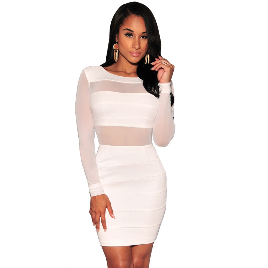 Popular White Club Dresses-Buy Cheap White Club Dresses lots from ...