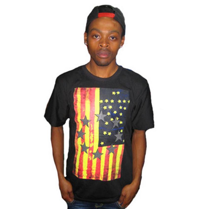Flag of the United States 2016 brand t-shirt men clothing ktz t shirt casual shirts,summer hiphop Tops & Tees hip hop tshirt(China (Mainland))