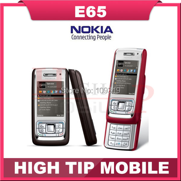 E65 Original Nokia E65 Mobile Phones WIFI Bluetooth JAVA Unlock Cell Phone Refurbished Free Shipping In Stock!!!(China (Mainland))