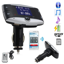 Car Kit Bluetooth Transmitter Hands free Modulator FM Audio MP3 Player USB Charger SD Slot FT