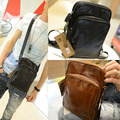 Men's Retro Vintage Shoulder Messenger Distressed Genuine Crazy